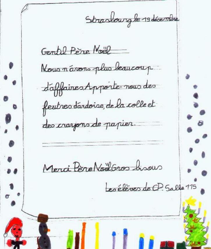 Lettre Pour Le Pere Noel.Lettre